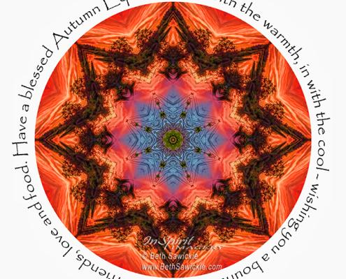Autumn Equinox by Beth Sawickie http://bethsawickie.com/autumn-equinox-mandala