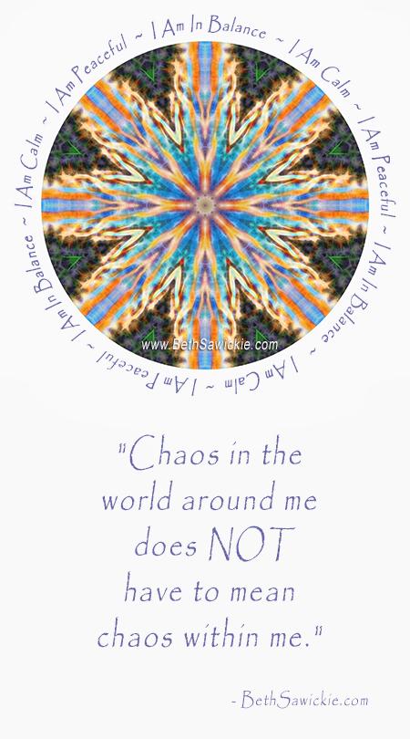 Chaos Calm Mandala - Beth Sawickie http://www.bethsawickie.com
