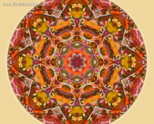 Fall Colors Mandala 2 by Beth Sawickie http://bethsawickie.com/fall-colors-mandala-2