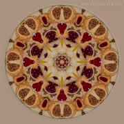 Hungarian Kifli Mandala by Beth Sawickie