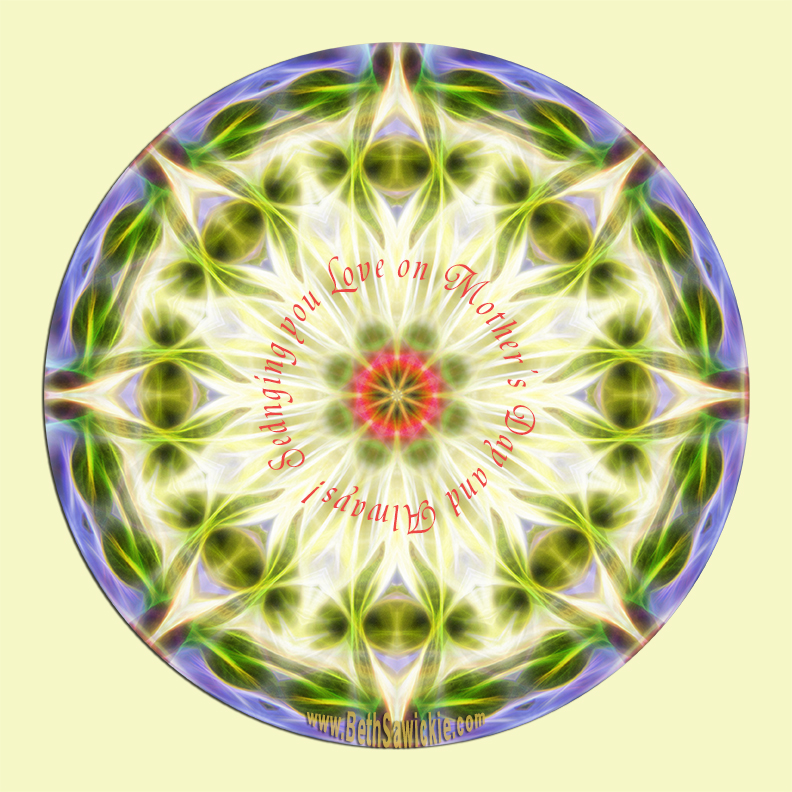 Mother's Day Mandala 1 by Beth Sawickie