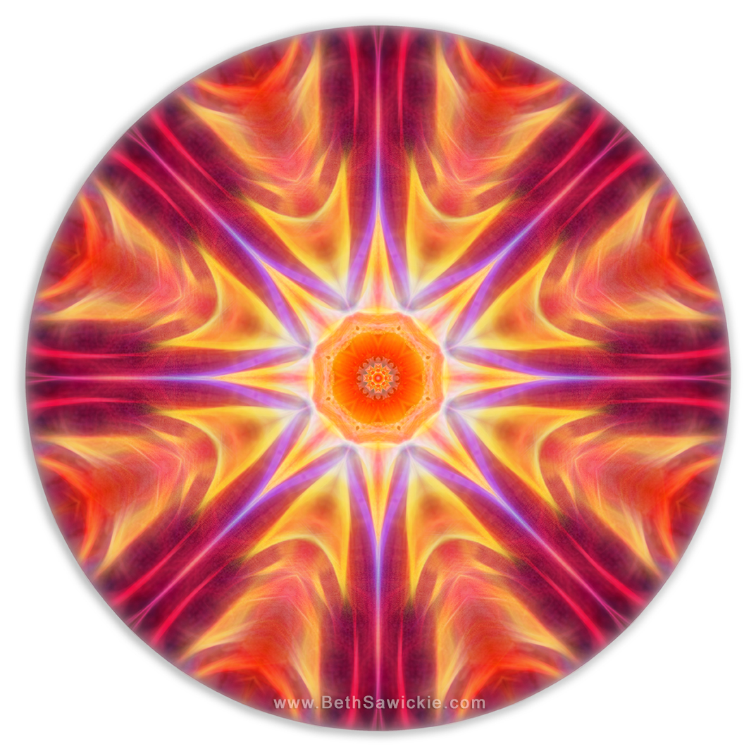 New Life Mandala by Beth Sawickie