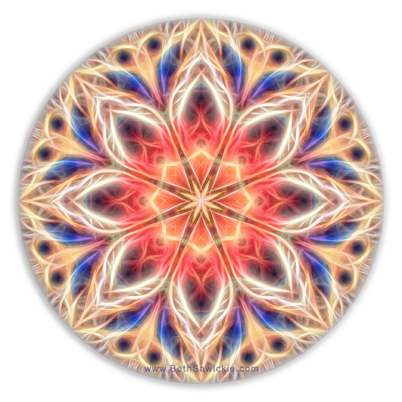 Peaceful Heart Mandala by Beth Sawickie