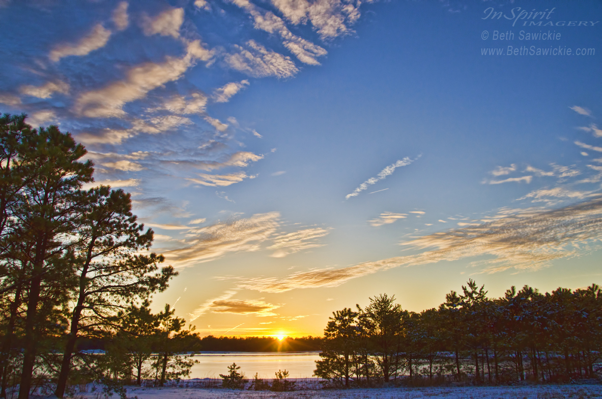 "image by Beth Sawickie www.BethSawickie.com/pine-barrens-sunset-1 ""Pine Barrens Sunset #1"""