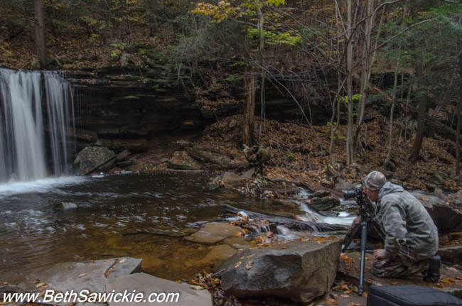 Doug Venner at Ricketts Glen, PA 1 by Beth Sawickie http://bethsawickie.com/our-ricketts-glen-adventure/