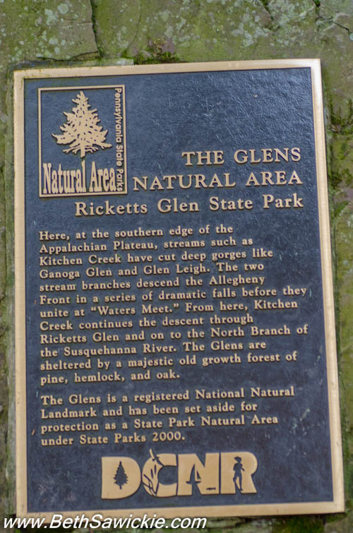 Sign at Ricketts Glen, PA