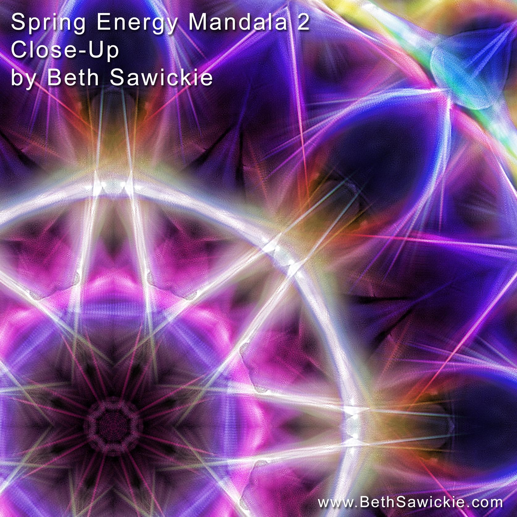 Spring Energy Mandala 2 Close-Up by Beth Sawickie