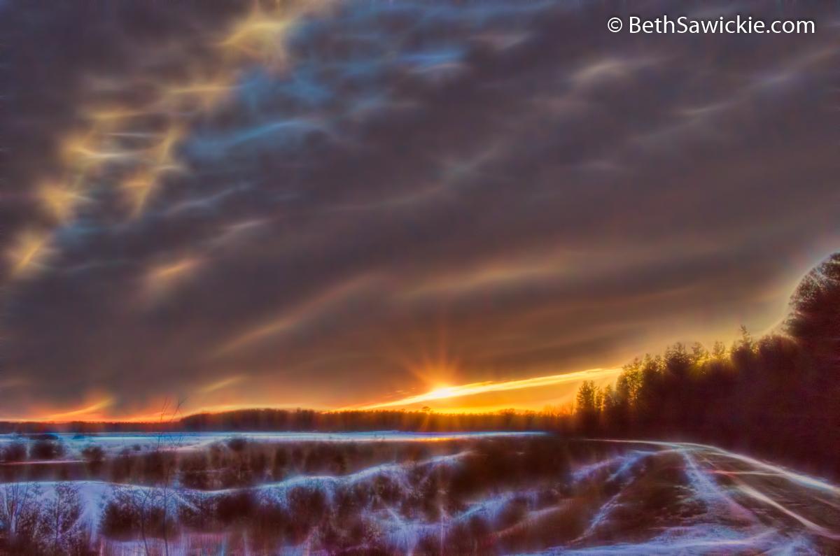 Sunset Glow 3 by Beth Sawickie