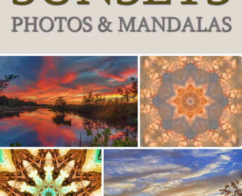 Sunsets Photos and Mandalas book by Beth Sawickie http://www.BethSawickie.com