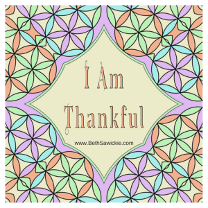 thankful mandala colored in beth sawickie