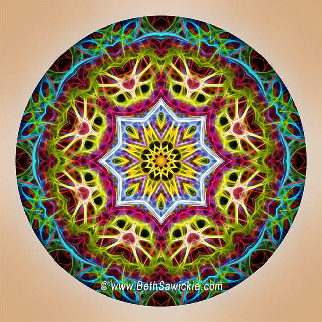 Vibrant Mandala by Beth Sawickie http://www.bethsawickie.com/vibrant-mandala