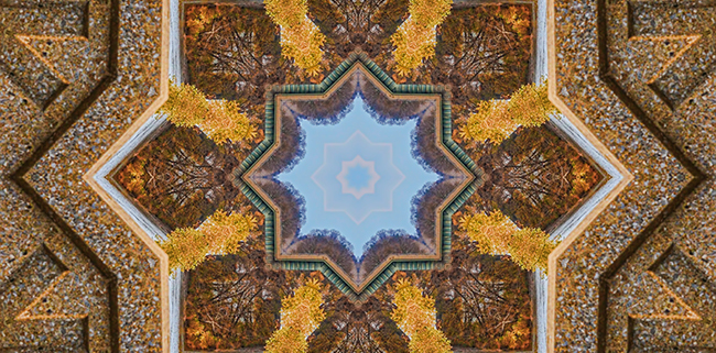 Windows to Autumn Mandala 3 by Beth Sawickie http://bethsawickie.com/windows-to-autumn-mandala-3